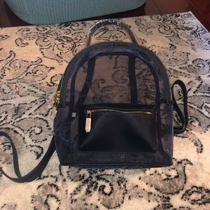 Barneys New York Mesh blue mini backpack